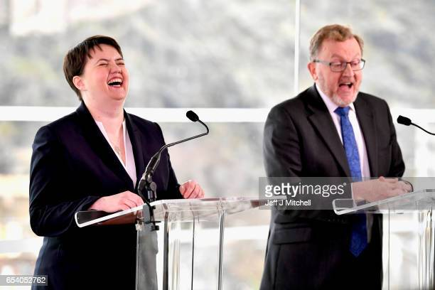 Ruth Davidson leader of the Scottish Conservatives and David Mundell Scottish Secretary of State make a statement on the SNP referendum announcement...
