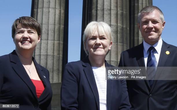 Ruth Davidson leader of the Scottish Conservatives Johann Lamont leader of Scottish Labour and Willie Rennie leader of the Scottish Liberal Democrats...