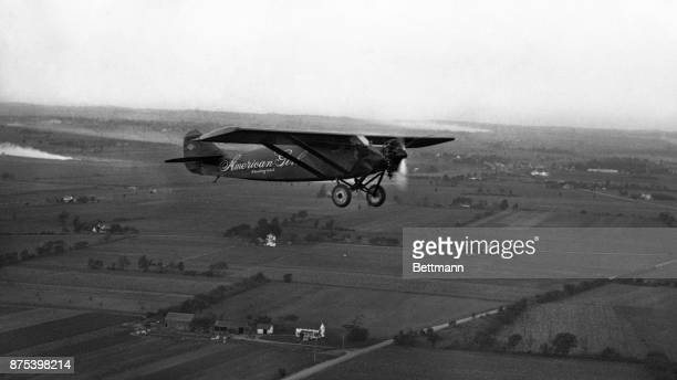 Ruth Elder's airplane 'American Girl' in the air