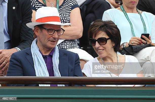 Ruth Elkrief attends Day 8 of the French Open 2014 held at RolandGarros stadium on June 1 2014 in Paris France