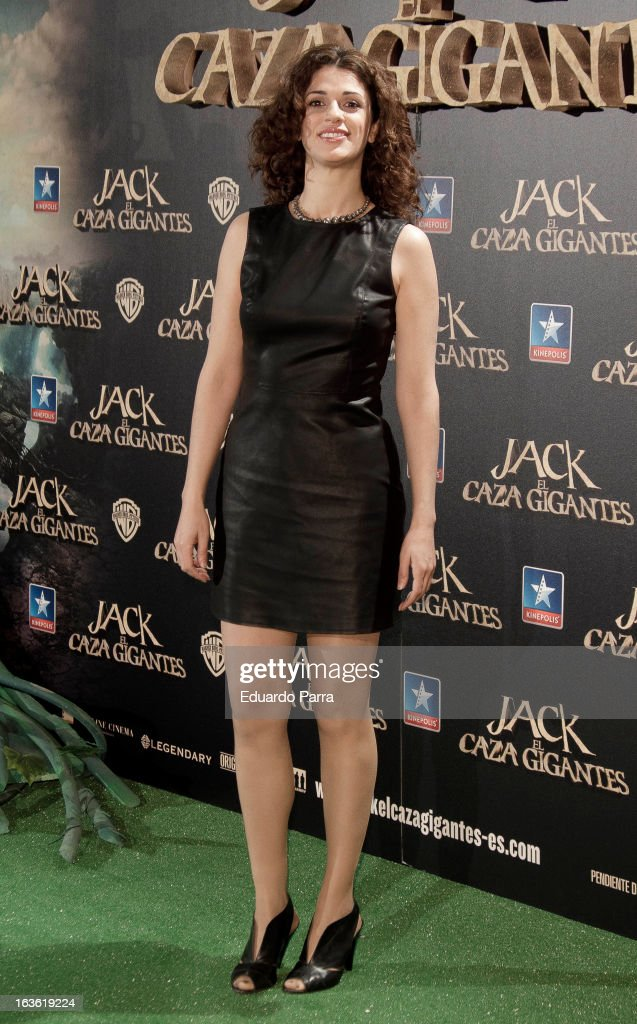 Ruth Gabriel attends 'Jack el Caza Gigantes' premiere photocall at Kinepolis cinema on March 13, 2013 in Madrid, Spain.