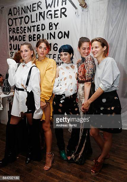 Ruth Gruca Bambi NorthwoodBlyth Sita Abellan Cosima Gadient and Christa Boesch attend the Made Berlin Dinner during the MercedesBenz Fashion Week...