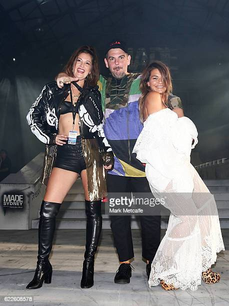 Ruth Gruca Barnett Zitron and Jenne Lombardo attend the Faith Connection Runway Show MADE Sydney at Carriageworks on November 12 2016 in Sydney...