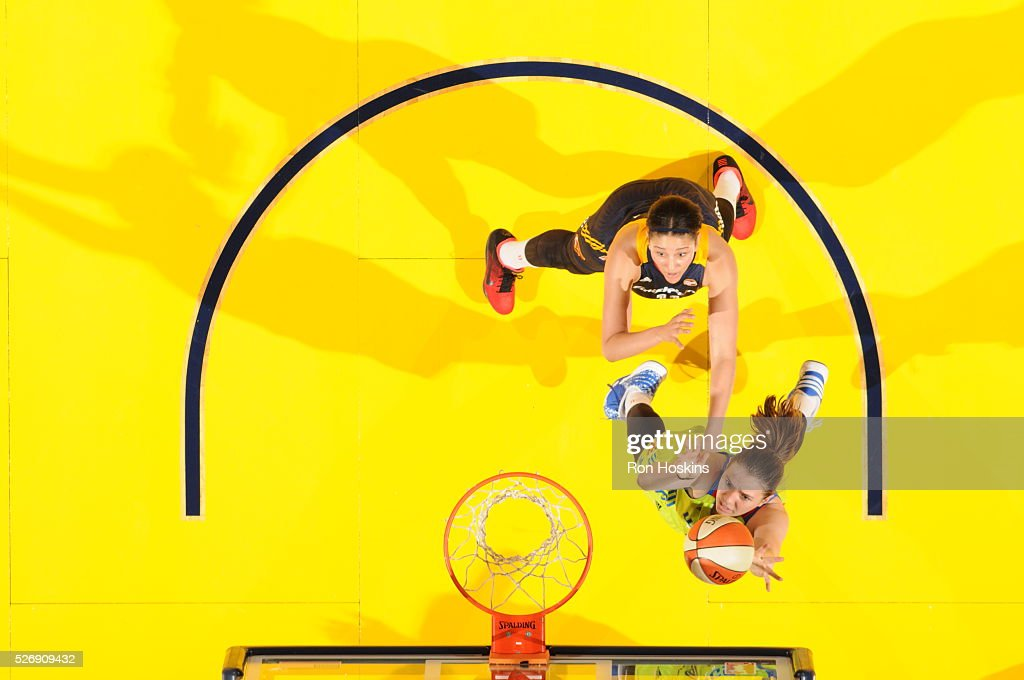 <a gi-track='captionPersonalityLinkClicked' href=/galleries/search?phrase=Ruth+Hamblin&family=editorial&specificpeople=15607562 ng-click='$event.stopPropagation()'>Ruth Hamblin</a> #44 of Dallas Wings shoots a lay up against the Indiana Fever during a preseason game on May 1, 2016 at Bankers Life Fieldhouse in Indianapolis, Indiana.