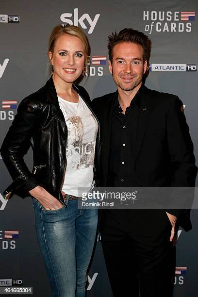 Ruth Hofmann and Sebastian Hoeffner attend the 'House of Cards' Season 3 German Premiere on February 27 2015 in Munich Germany