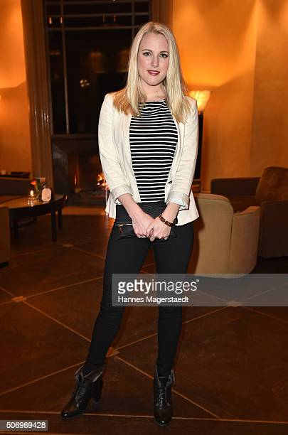 Ruth Hofmann attends the German premiere of the tv show 'Altes Geld' at Hotel Bayerischer Hof on January 26 2016 in Munich Germany