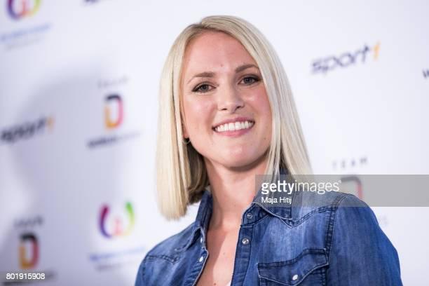 Ruth Hofmann Sport 1 Moderator smiles during a press conference on the occasion of German 2017 World Games Team Kitting Out on June 27 2017 in...