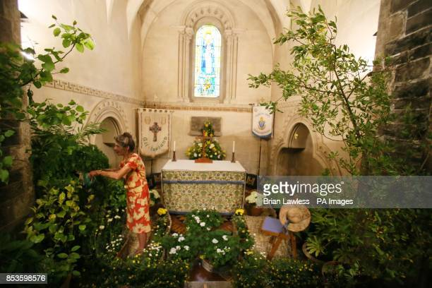 Ruth Kinsella who has been in charge of flowers at Christ Church Cathedral for 21 years makes final preparations ahead of The Dublin Garden Festival...