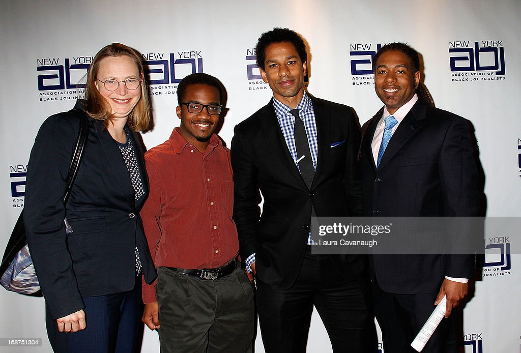 Ruth Konigsberg, Victor Luckerson, Toure and Madison Grey attend the 2013 New York Association Of Black Journalists Gala at the Time-Life Building on May 14, 2013 in New York City.