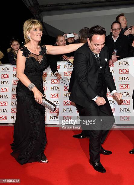 Ruth Langsford and Anthony McPartlin attend the National Television Awards at 02 Arena on January 21 2015 in London England
