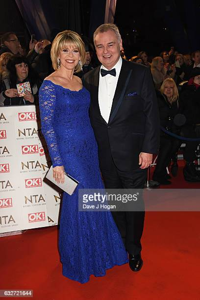 Ruth Langsford and Eamon Holmes attend the National Television Awards at Cineworld 02 Arena on January 25 2017 in London England