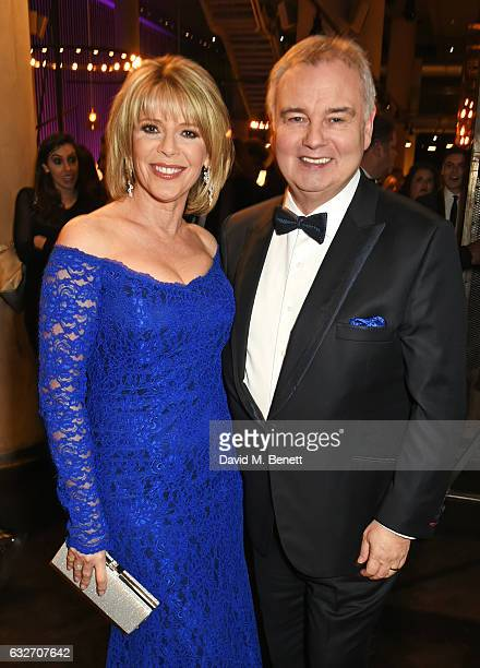 Ruth Langsford and Eamonn Holmes attend the National Television Awards cocktail reception at The O2 Arena on January 25 2017 in London England