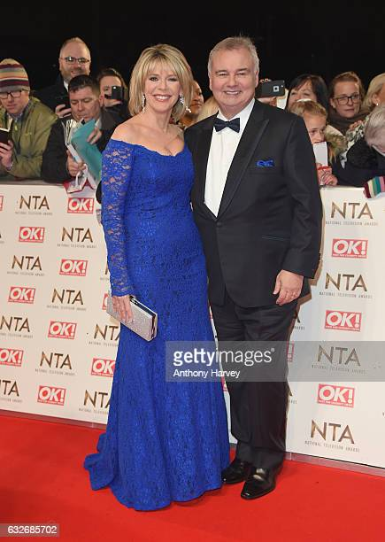 Ruth Langsford and Eamonn Holmes attend the National Television Awards on January 25 2017 in London United Kingdom