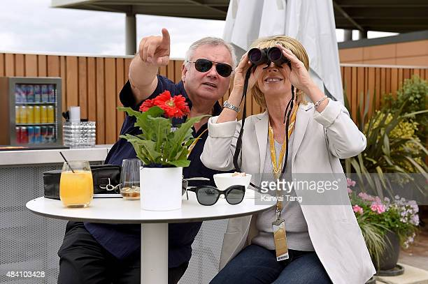 Ruth Langsford and Eamonn Holmes attend the Red Bull Air Race World Championships at Ascot Racecourse on August 15 2015 in Ascot England