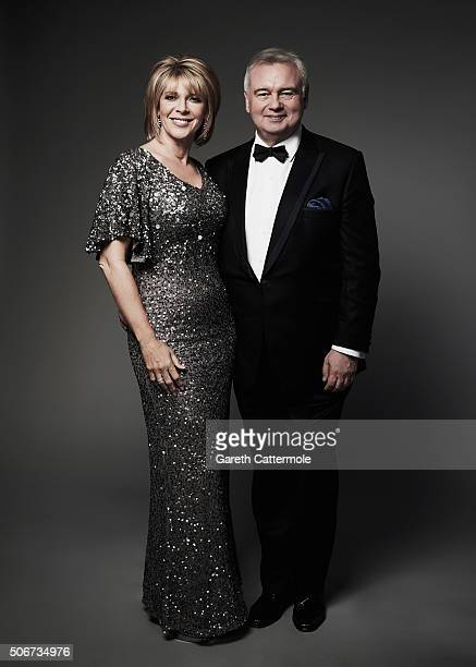 Ruth Langsford and Eamonn Holmes pose in the Portrait Studio during the 21st National Television Awards at The O2 Arena on January 20 2016 in London...
