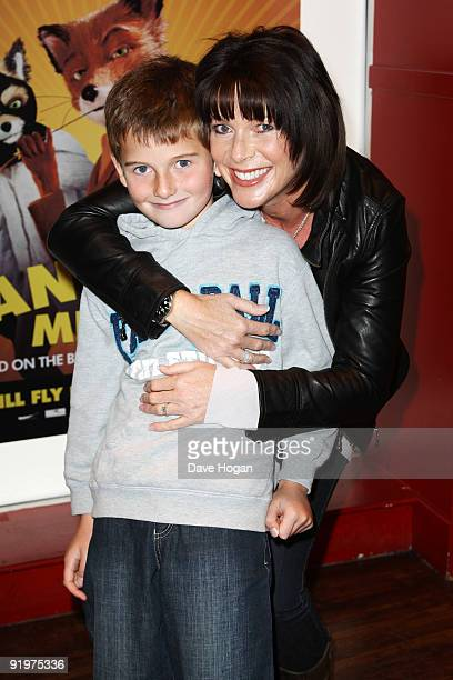 Ruth Langsford and son Jack attend a press screening of Fantastic Mr Fox during the The Times BFI London Film Festival held at The Odeon West End on...