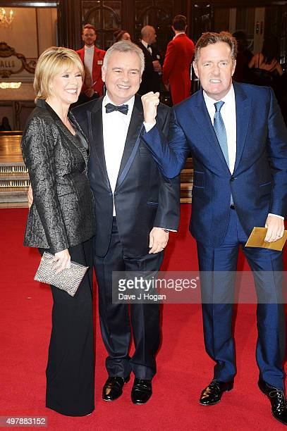 Ruth Langsford Eamonn Holmes and Piers Morgan attend the ITV Gala at London Palladium on November 19 2015 in London England