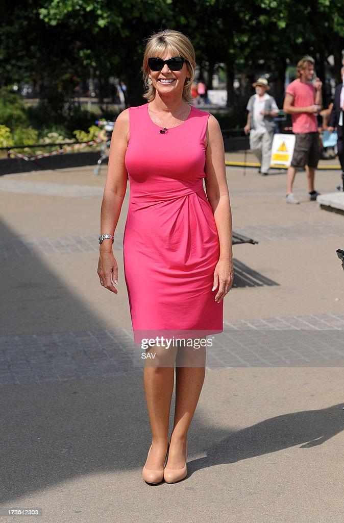 Ruth Langsford is sighted on the south bank ITV studios on July 16, 2013 in London, England.