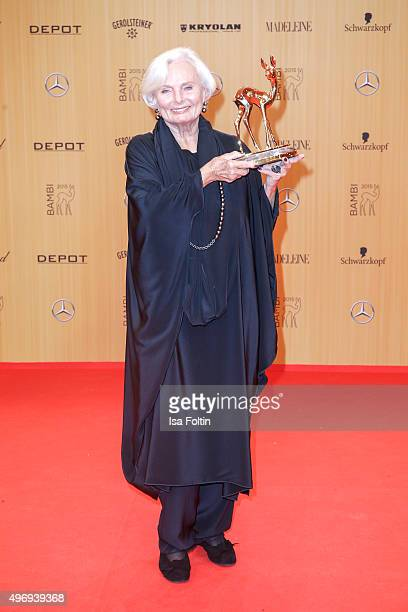 Ruth Maria Kubitschek attends the Kryolan At Bambi Awards 2015 Red Carpet Arrivals on November 12 2015 in Berlin Germany