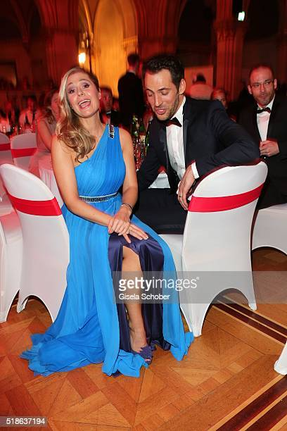Ruth Moschner and Alexander Mazza during the 7th 'Filmball Vienna' at City Hall on April 1 2016 in Vienna Austria