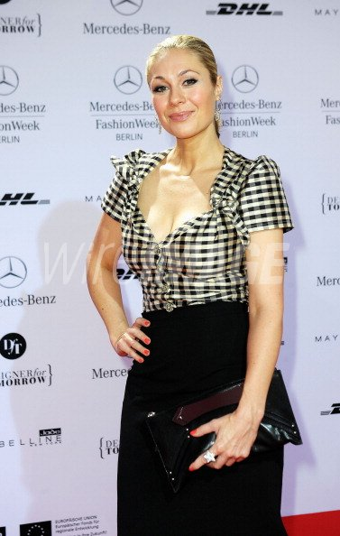 Ruth Moschner arrives to the Lena Hoschek Show during