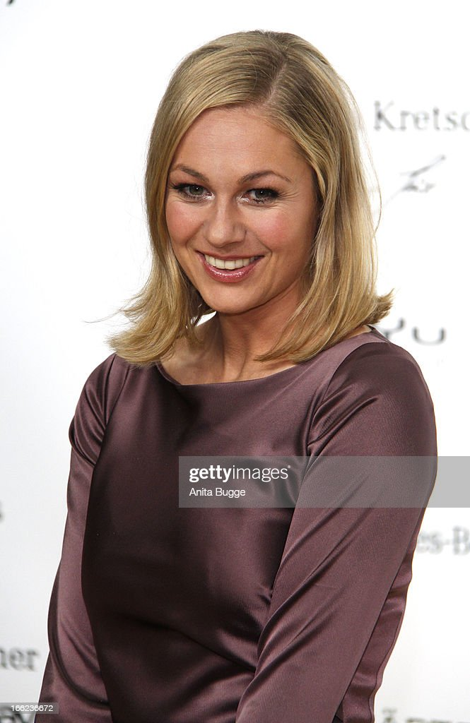 Ruth Moschner attends the Guido Maria Kretschmer For eBay Collection Launch at Label 2 on April 10, 2013 in Berlin, Germany.