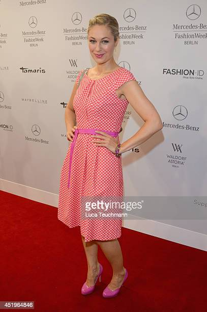 Ruth Moschner attends the Laurel show during the MercedesBenz Fashion Week Spring/Summer 2015 at Erika Hess Eisstadion on July 10 2014 in Berlin...