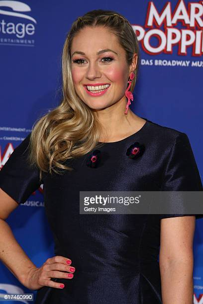 Ruth Moschner attends the red carpet at the premiere of the Mary Poppins musical at Stage Apollo Theater on October 23 2016 in Stuttgart Germany