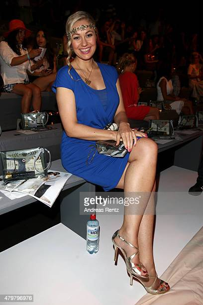 Ruth Moschner attends the Riani show during the MercedesBenz Fashion Week Berlin Spring/Summer 2016 at Brandenburg Gate on July 7 2015 in Berlin...