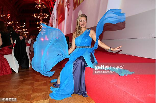 Ruth Moschner during the 7th 'Filmball Vienna' at City Hall on April 1 2016 in Vienna Austria