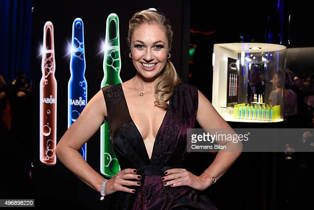 Ruth Moschner poses at the Bambi Awards 2015 party at Atrium Tower on November 12 2015 in Berlin Germany