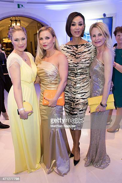 Ruth Moschner Regina Halmich Verona Pooth and Sonja Kiefer attend the Felix Burda Award 2015 on April 26 2015 in Berlin Germany