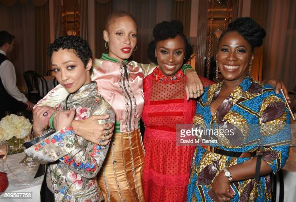 Ruth Negga Adwoa Aboah Chimamanda Ngozi Adichie and guest attend Harper's Bazaar Women of the Year Awards in association with Ralph Russo Audemars...
