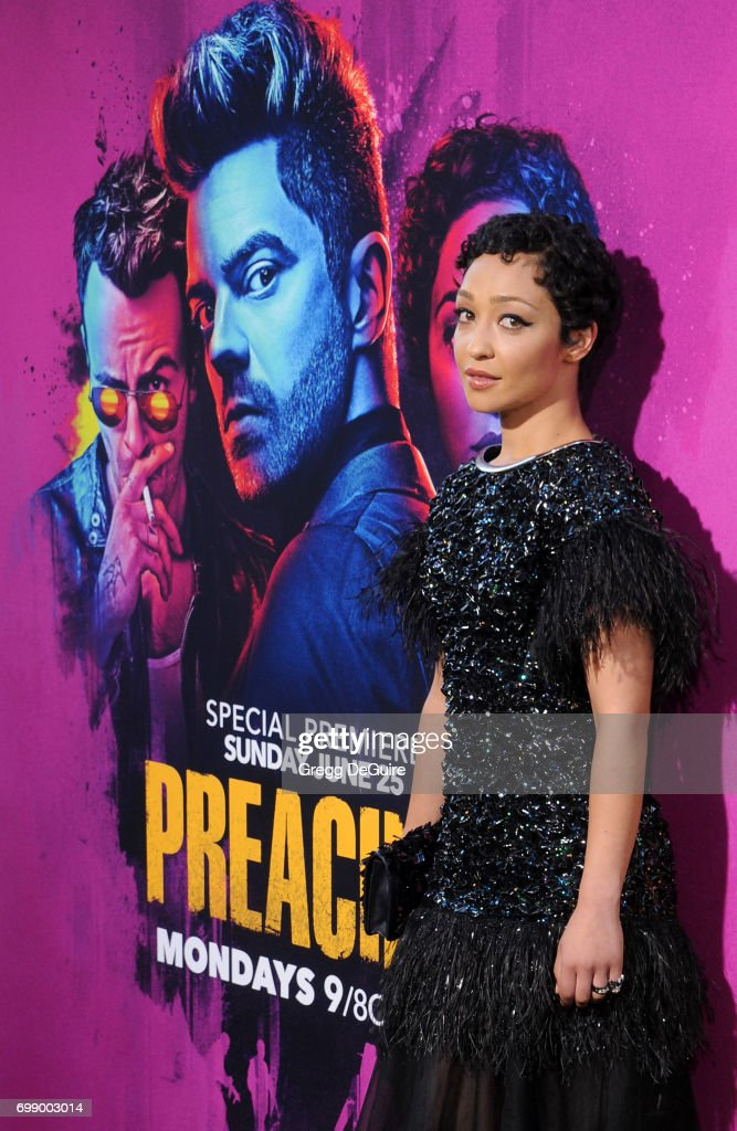 Ruth Negga arrives at the premiere of AMC's 'Preacher' Season 2 at The Theatre at Ace Hotel on June 20, 2017 in Los Angeles, California.