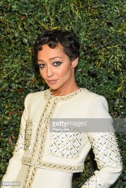 Ruth Negga attends Charles Finch and CHANEL PreOscar Awards Dinner at Madeo Restaurant on February 25 2017 in Los Angeles California
