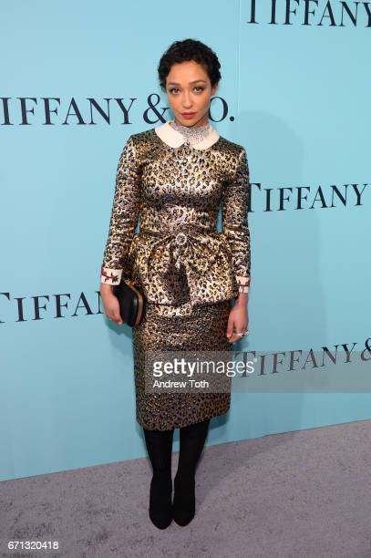 Ruth Negga attends Tiffany Co 2017 Blue Book Collection Gala at St Ann's Warehouse on April 21 2017 in New York City