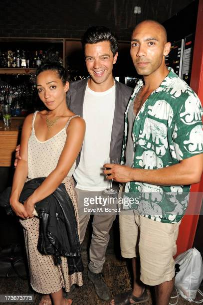 Ruth Negga Dominic Cooper and Alex Lanipekun attend an after party following the press night performance of 'A Season In The Congo' at The Young Vic...