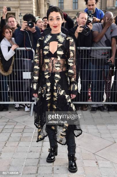 Ruth Negga is seen arriving at Louis Vuitton show during Paris Fashion Week Womenswear Spring/Summer 2018 on October 3 2017 in Paris France