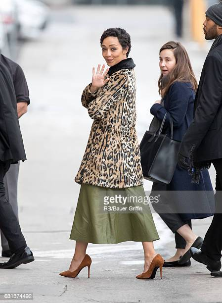 Ruth Negga is seen at 'Jimmy Kimmel Live' on January 09 2017 in Los Angeles California