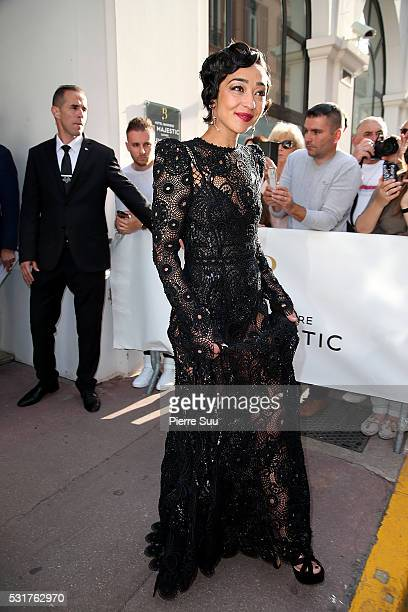 Ruth Negga leaves the Majestic Hotel to walk the Red Carpet for the Film 'Loving'during the 69th Annual Cannes Film Festival on May 16 2016 in Cannes