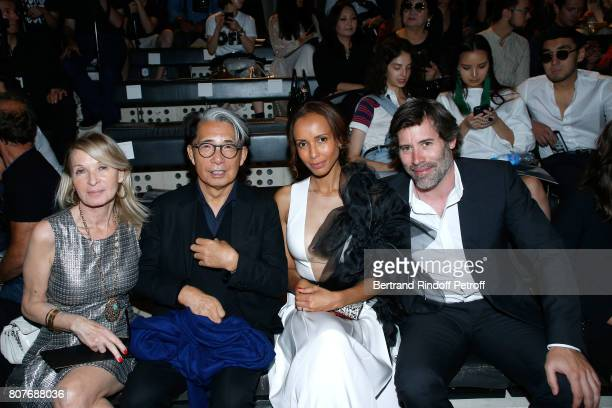 Ruth Obadia Stylist Kenzo Takada Sonia Rolland and her husband Jalil Lespert attend the Stephane Rolland Haute Couture Fall/Winter 20172018 show as...
