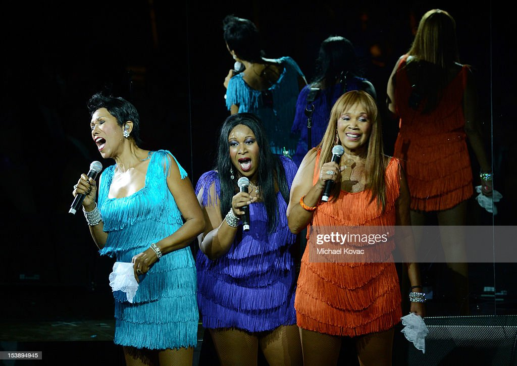 Ruth Pointer Issa Pointer and Anita Pointer of The Pointer Sisters perform at City Of Hope Honors Halston CEO Ben Malka With Spirit Of Life Award at...