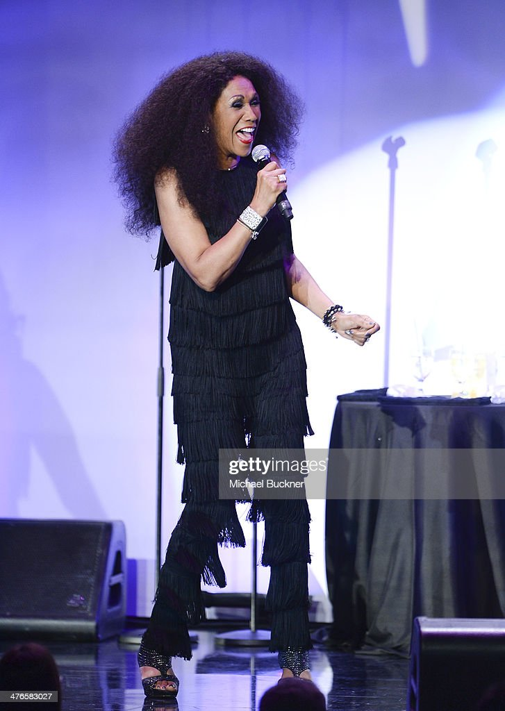 <a gi-track='captionPersonalityLinkClicked' href=/galleries/search?phrase=Ruth+Pointer&family=editorial&specificpeople=828164 ng-click='$event.stopPropagation()'>Ruth Pointer</a> of the Pointer Sisters performs at the Venice Family Clinic's 32nd Annual Silver Circle Gala at The Beverly Hilton Hotel on March 3, 2014 in Beverly Hills, California.