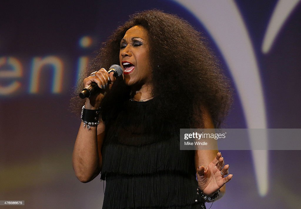 Ruth Pointer of the Pointer Sisters performs onstage at the Venice Family Clinic's 32nd Annual Silver Circle Gala held at The Beverly Hilton Hotel on March 3, 2014 in Beverly Hills, California.