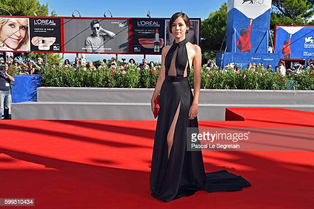 Ruth Ramos attends the premiere of 'The Untamed' during the 73rd Venice Film Festival at Sala Grande on September 5 2016 in Venice Italy