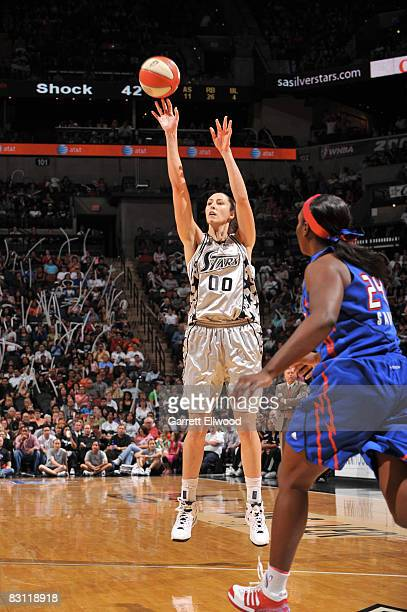 Ruth Riley of the San Antonio Silver Stars shoots against the Detroit Shock during Game Two of the WNBA Finals on October 3 2008 at ATT Center in San...