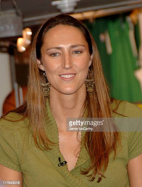 Ruth Riley of the WNBA Champions Detroit Shock during NBA Store New York Hosts Panel for 'Nothing But Nets' Campaign for Prevention of Malaria in...
