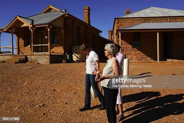 Ruth Sandow walks through the township of Milparinka population 10 an old mining town near Tibooburra in far northwest New South Wales 18 December...