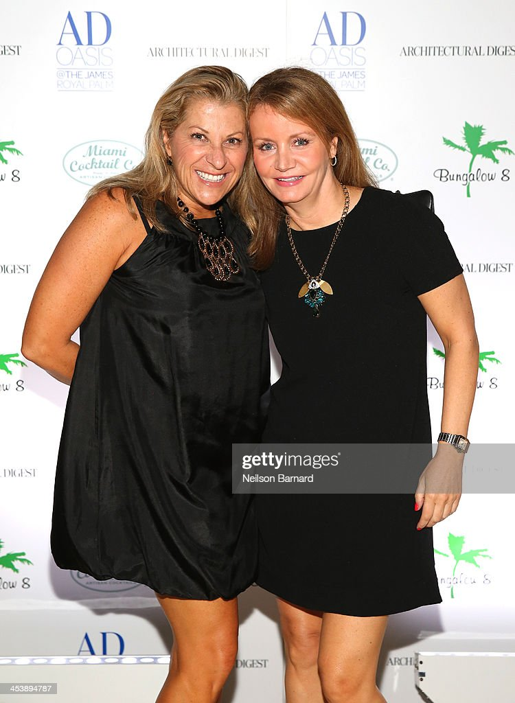 Ruth Tucker and Susan Keena attend AD Oasis And Amy Sacco Host Bungalow 8 Party at James Royal Palm Hotel on December 5, 2013 in Miami Beach, Florida.