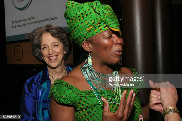 Ruth W Messinger and Glen Mabuza attend AMERICAN JEWISH WORLD SERVICE Presents An Evening with Former President BILL CLINTON at Frederick P Rose Hall...